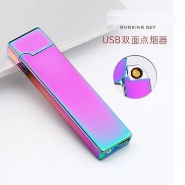 创意打火机双面点火重力感应充电打火机USB点烟器广告批发批发