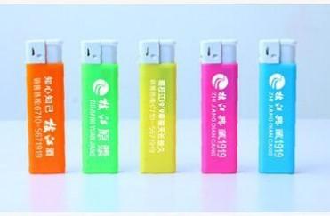 恒信精品802五彩塑胶广告打火机免费制作LoGo包印刷